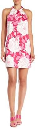 Trina Turk Rancho Halter Neck Floral Print Dress