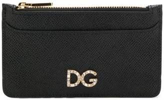 Dolce & Gabbana crystal embellished logo wallet