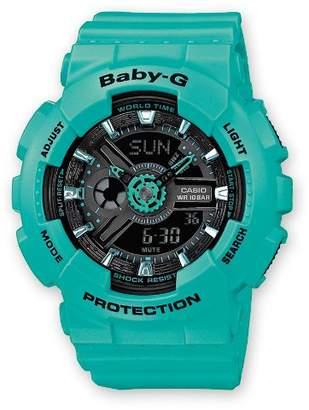 Baby-G Casio Casio Women's BA111-3A Aqua Rubber Quartz Watch