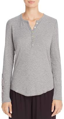 PJ Salvage Rib Long Sleeve Henley Top