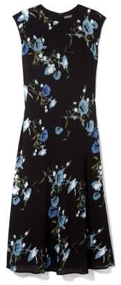 Vince Camuto Floral-print Cap-sleeve Dress