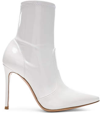 Gianvito Rossi Vinyl Imogen Ankle Boots in White | FWRD