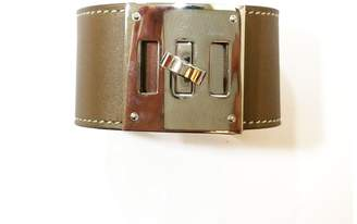 Hermes Extreme Wide Leather Cuff Bracelet