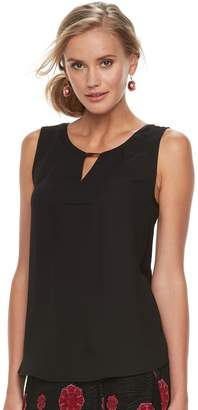 Dana Buchman Women's Metal Accent Sleeveless Top