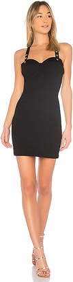 Bobi BLACK Matte Knit Sweetheart Dress