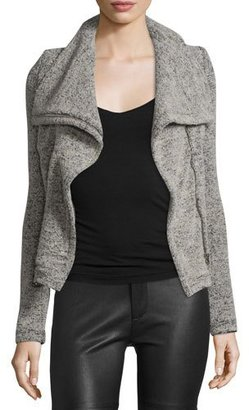Iro Bessie Melange Zip-Front Jacket, Beige $384 thestylecure.com