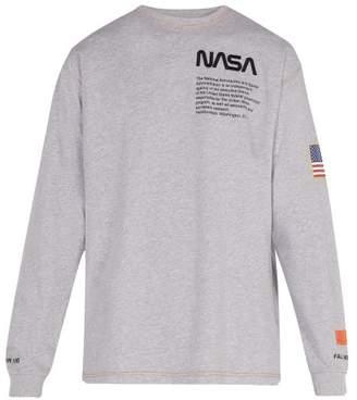 Heron Preston - Long Sleeved Cotton T Shirt - Mens - Grey