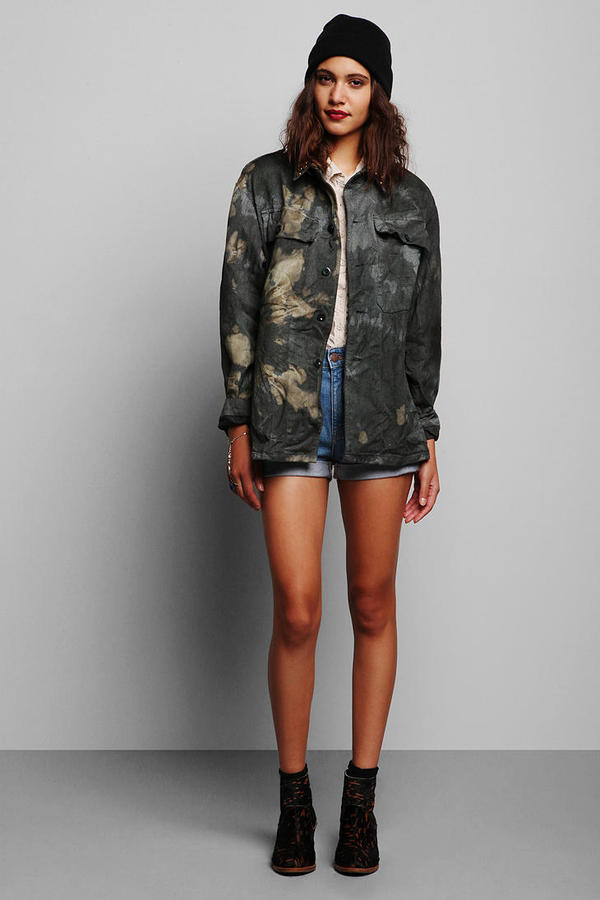 Urban Outfitters Rag Union x Urban Renewal Tie-Dyed Military Jacket