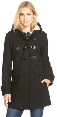 London Fog Wool Blend Faux Shearling Lined Duffel Coat $235 thestylecure.com