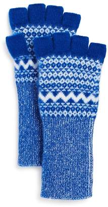 Burberry Fair Isle Cashmere Fingerless Gloves