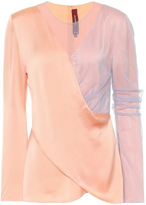 Sies Marjan Bari satin and tulle top