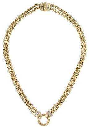 David Yurman 18K Diamond Double Wheat Chain Necklace