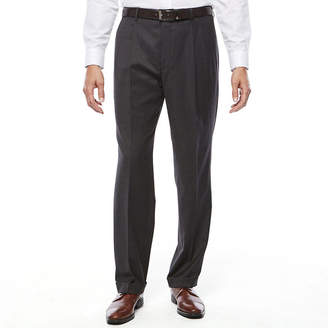 Blend of America STAFFORD Stafford Travel Wool Stretch Pleated Suit Pants-Classic Fit