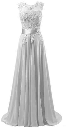 WAWALI Lace Applique Womens Dress Evening Party Prom Ball Gowns