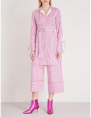 Mo&Co. Striped cotton shirt dress