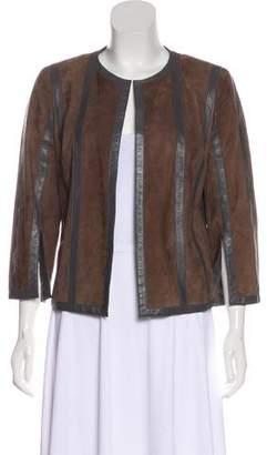 Akris Two-Tone Suede Jacket