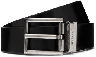 Givenchy 3cm Black Reversible Leather Belt