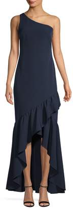 Vince Camuto One-Shouder Ruffle Gown