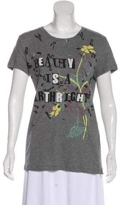 Valentino Embellished Graphic T-Shirt