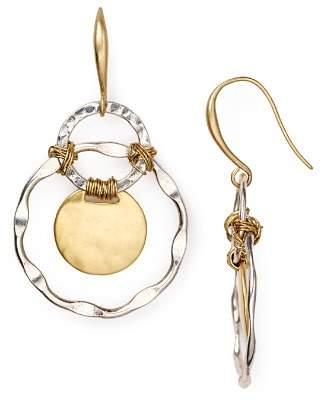 Robert Lee Morris Soho Two Tone Orbital Earrings