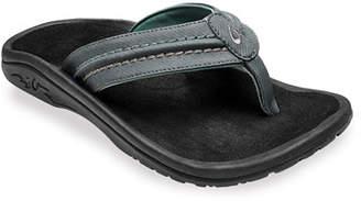 OluKai Men's Hokua Faux-Leather Flip-Flop Sandals