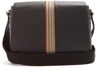 Paul Smith Signature stripe leather messenger bag