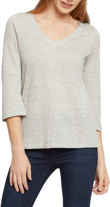 Nic+Zoe Tie Back Linen Blend Knit Top
