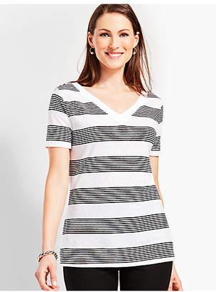 Talbots Linen Lightweight Top-Stripe