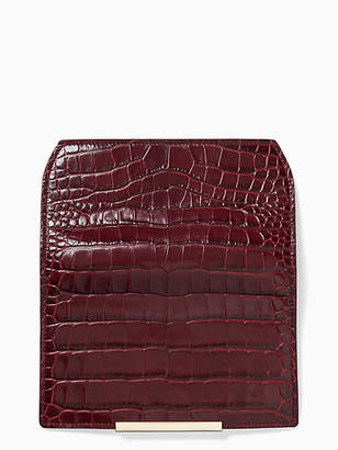 Kate Spade Make it mine white rock road croc-embossed flap