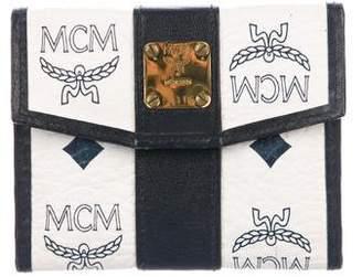 MCM Visetos Monogram Wallet
