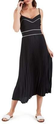 Cooper St Zuri Pleated Midi Dress