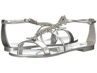 Giuseppe Zanotti Slim Rhinestone Fishbone Flat Sandal