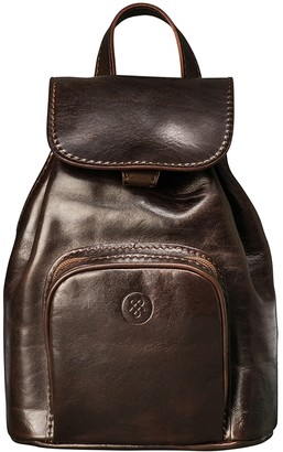 0ca49e9894 Maxwell Scott Bags Elegant Brown Small Leather Women S Backpack