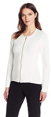 Calvin Klein Women's Sweater Jacket with Square Detail