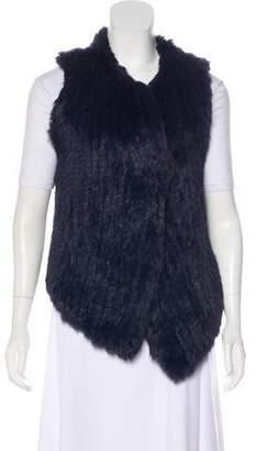 Joie Woven Fur Vest