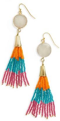 Women's Panacea Drusy Tassel Drop Earrings $32 thestylecure.com