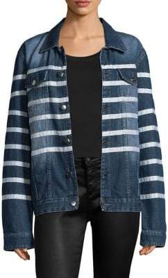 Each X Other Striped Denim Jacket