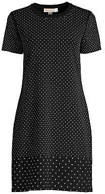 MICHAEL Michael Kors Women's Mini Studded Short-Sleeve T-Shirt Dress