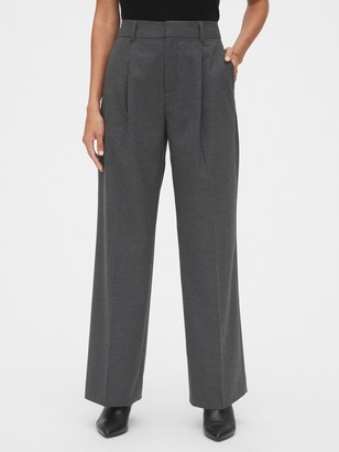 Gap High Rise Pleated Wide-Leg Pants