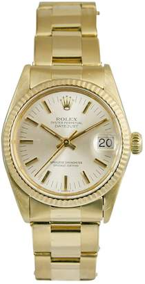 Rolex DateJust Medium yellow gold watch