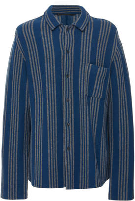Haider Ackermann Striped Wool-Blend Shirt