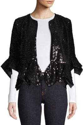 French Connection Alodia Sequin Jacket
