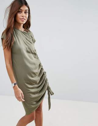ASOS Sleeveless Ruched Detail T-Shirt Dress $46 thestylecure.com