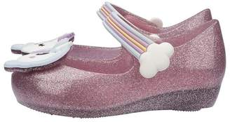Mini Melissa Kids Ultra Girl Unicorn - Glitter Blue