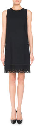 Andrew Gn Sleeveless Eyelet-Hem Shift Dress