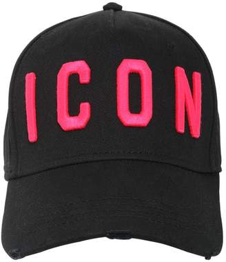 DSQUARED2 Icon Embroidered Cotton Baseball Hat
