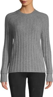 Saks Fifth Avenue Cashmere Ribbed Raglan-Sleeve Cashmere Sweater
