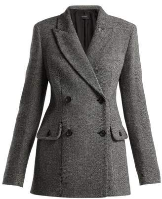 Joseph Moore Double Breasted Wool Blend Jacket - Womens - Grey