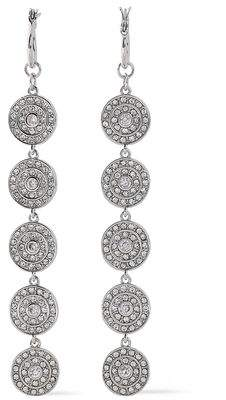 Luv Aj Silver-Tone Crystal Earrings