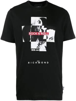 John Richmond Meterson photo print T-shirt